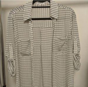 Express Portofino black and white blouse L